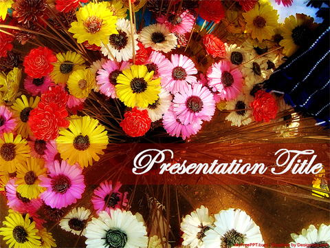 Free Bouquet PowerPoint Template