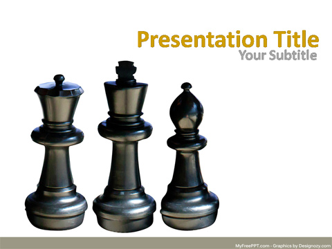 Chess Pawn PowerPoint Template