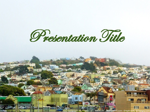 Free City Houses PowerPoint Template