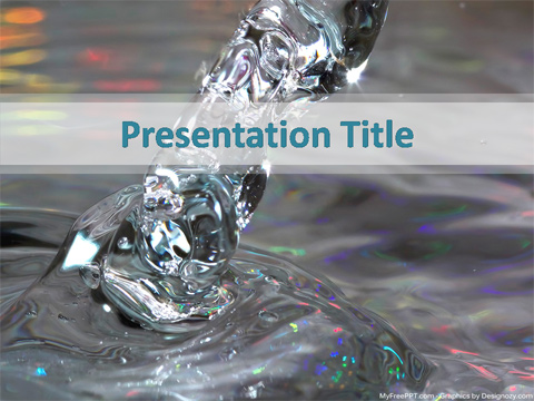 Free Clean Water PowerPoint Template