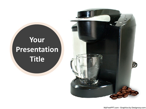 Coffee Machine PowerPoint Template