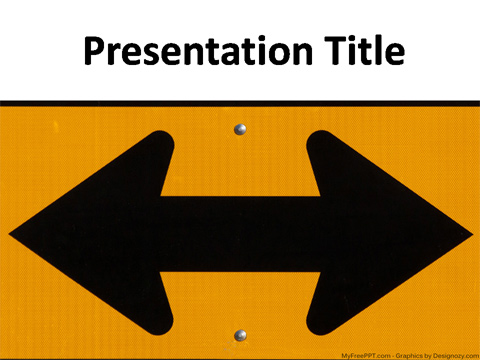 Free Direction Arrow PowerPoint Template