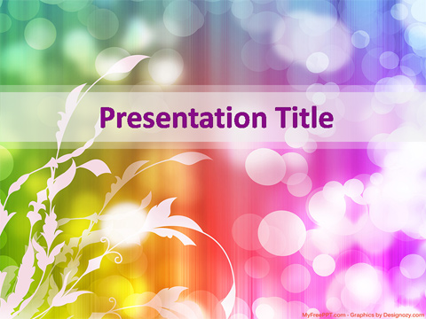 Floral Abstract PowerPoint Template