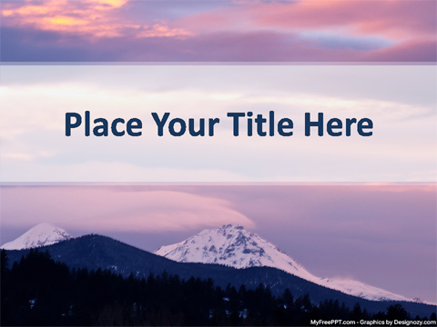 Free Mountain PowerPoint Template