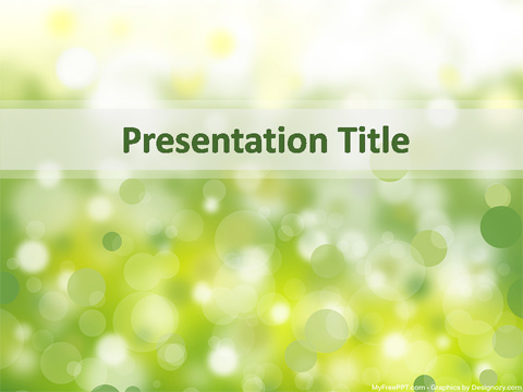 Free Nature Effect Powerpoint Template Download Free