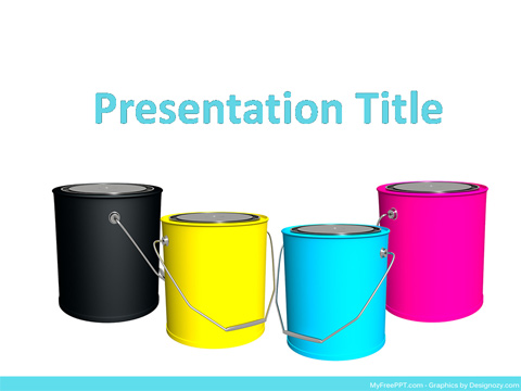 Free CMYK Concept PowerPoint Template