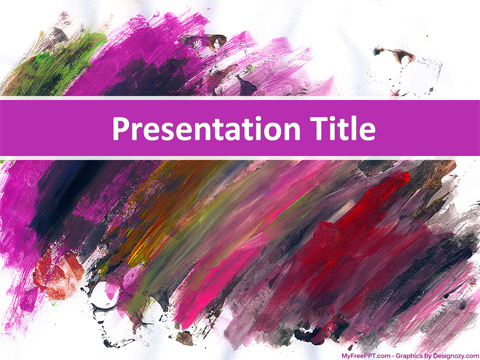 Free Painting PowerPoint Template