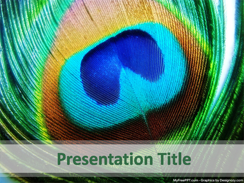 Free Peacock Feather PowerPoint Template