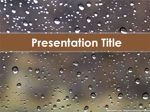 Raindrops PowerPoint Template