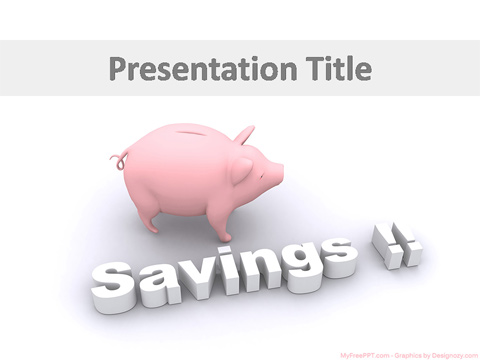 Saving Concept PowerPoint Template