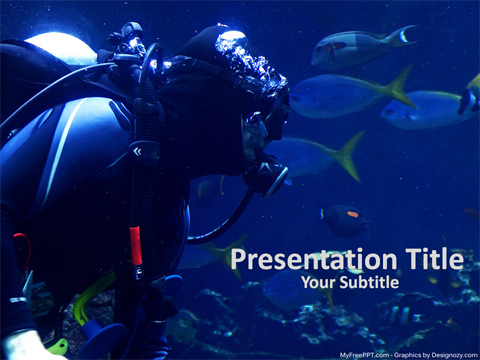 Free Scuba Diver PowerPoint Template