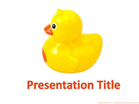 Rubber Duck PowerPoint Template