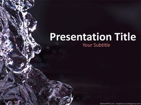 Free Water PowerPoint Template