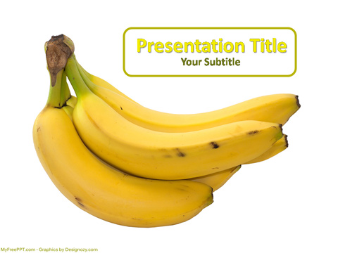 Free Banana PowerPoint Template