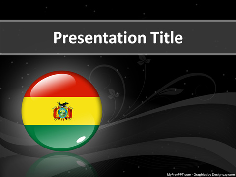 Bolivia state PowerPoint Template