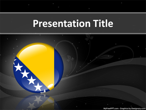 Bosnia and Herz govina PowerPoint Template