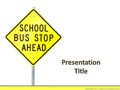 Bus Stop Signboard PowerPoint Template