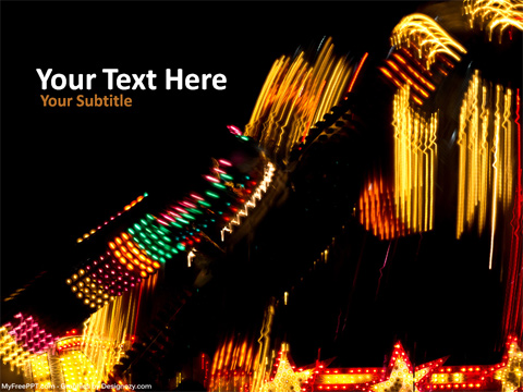 Carnival Lights PowerPoint Template