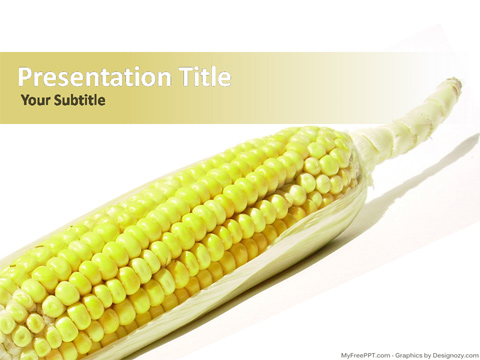 Corn Benefits PowerPoint Template