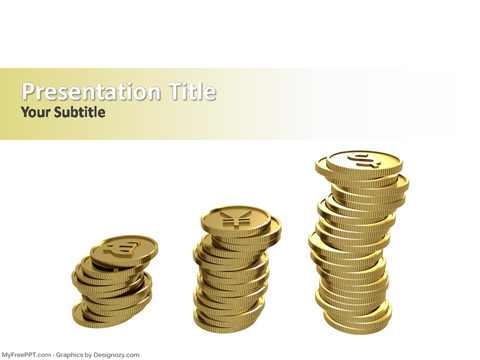 Free Currency Coins PowerPoint Template