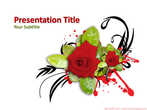 Decorative Flower PowerPoint Template