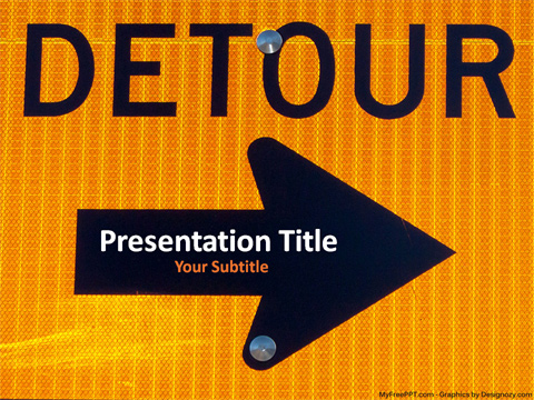 Detour PowerPoint Template