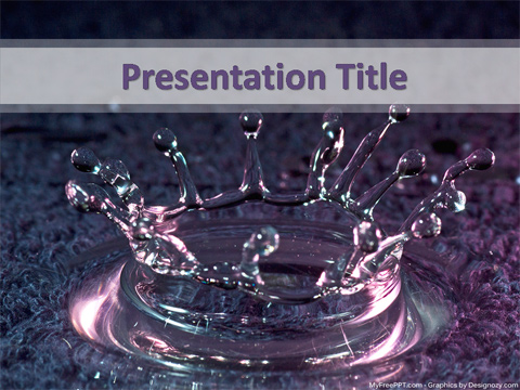 Drops in Water PowerPoint Template
