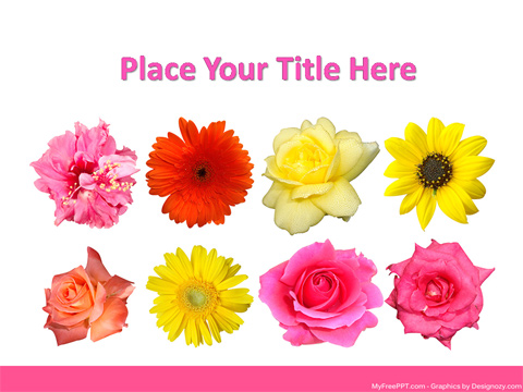Free Flowers PowerPoint Template