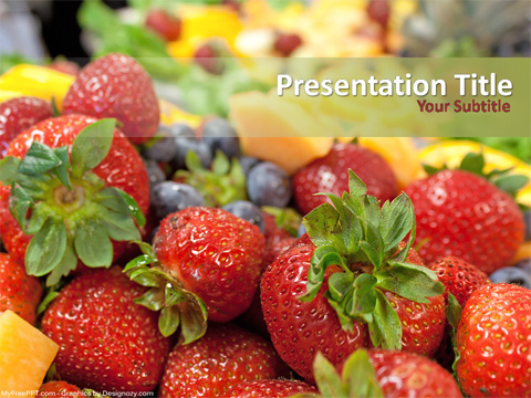 Free Fresh Fruits PowerPoint Template