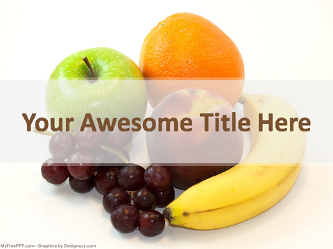 Fruits Benefits PowerPoint Template