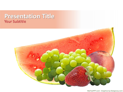 Healthy Fruits PowerPoint Template