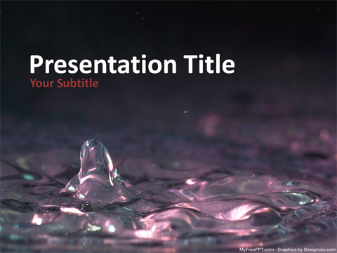 Ice Water PowerPoint Template