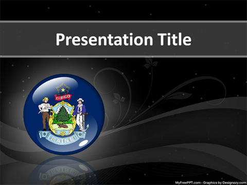 Free Maine PowerPoint Template