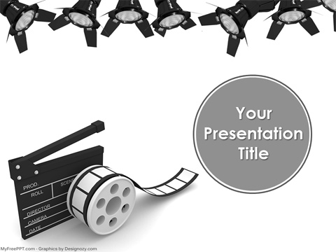 Free Media Entertainment PowerPoint Template