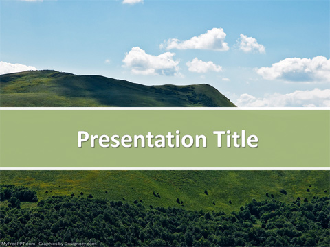 Free Mountain Nature Powerpoint Template Download Free