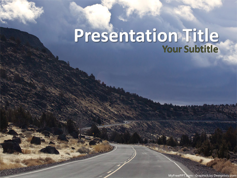 Mountain Road PowerPoint Template