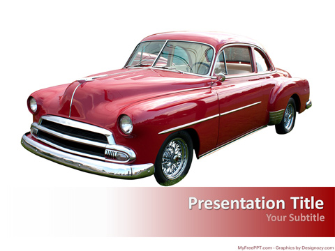 Free Old Style Car PowerPoint Template