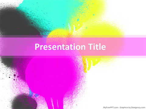 Free Paint PowerPoint Template