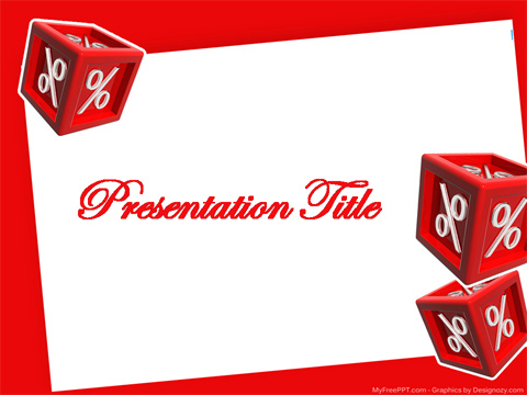 Free Percentage PowerPoint Template