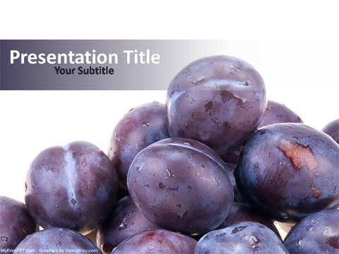 Plums Fruits PowerPoint Template