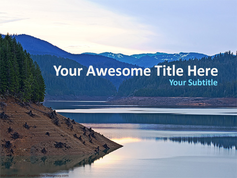 Free Pond PowerPoint Template
