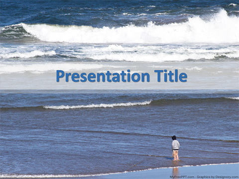 Sea Wave PowerPoint Template