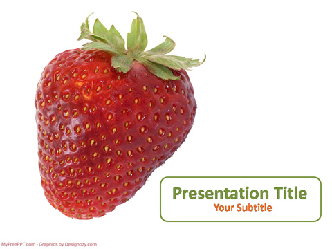 Free Strawberry PowerPoint Template