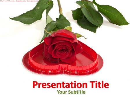 Free Valentine Rose PowerPoint Template