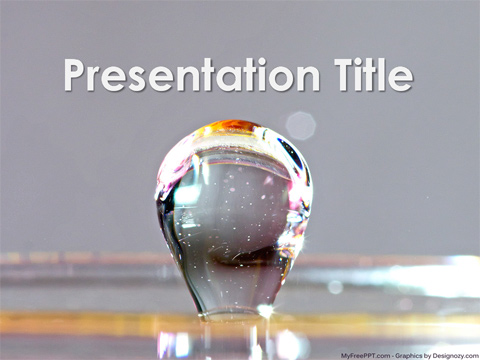 Water Bubble PowerPoint Template