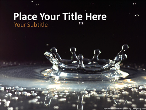 Water Effect PowerPoint Template