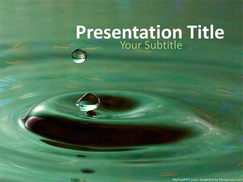 Free Water Ripple Powerpoint Template Download Free Powerpoint Ppt