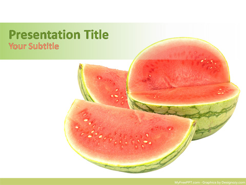 Free Watermelon PowerPoint Template
