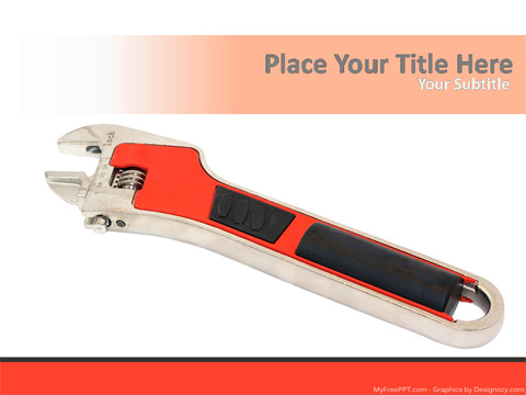 Wrench Tool PowerPoint Template