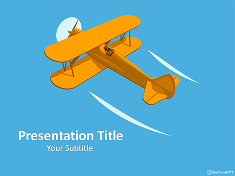 Biplane Aircraft PowerPoint Template